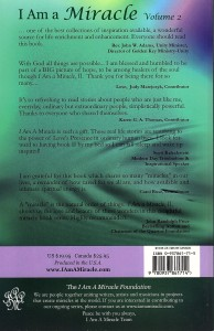 I Am a Miracle, Volume 2 Back Cover