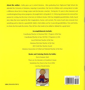 There are NO Monsters at Grandma's House Back Cover